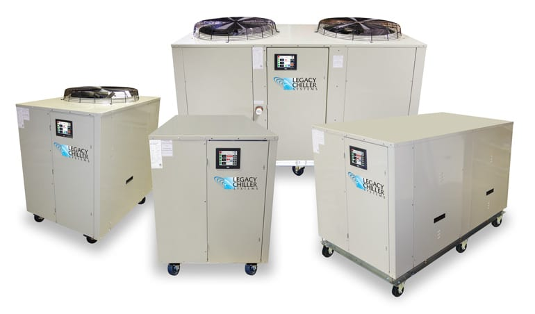 Package Air-Cooled Process Chiller with Poly Tank